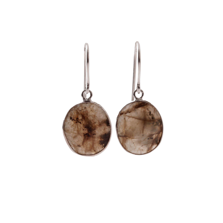 Sølv øreringe med turmalin fra Aagaard