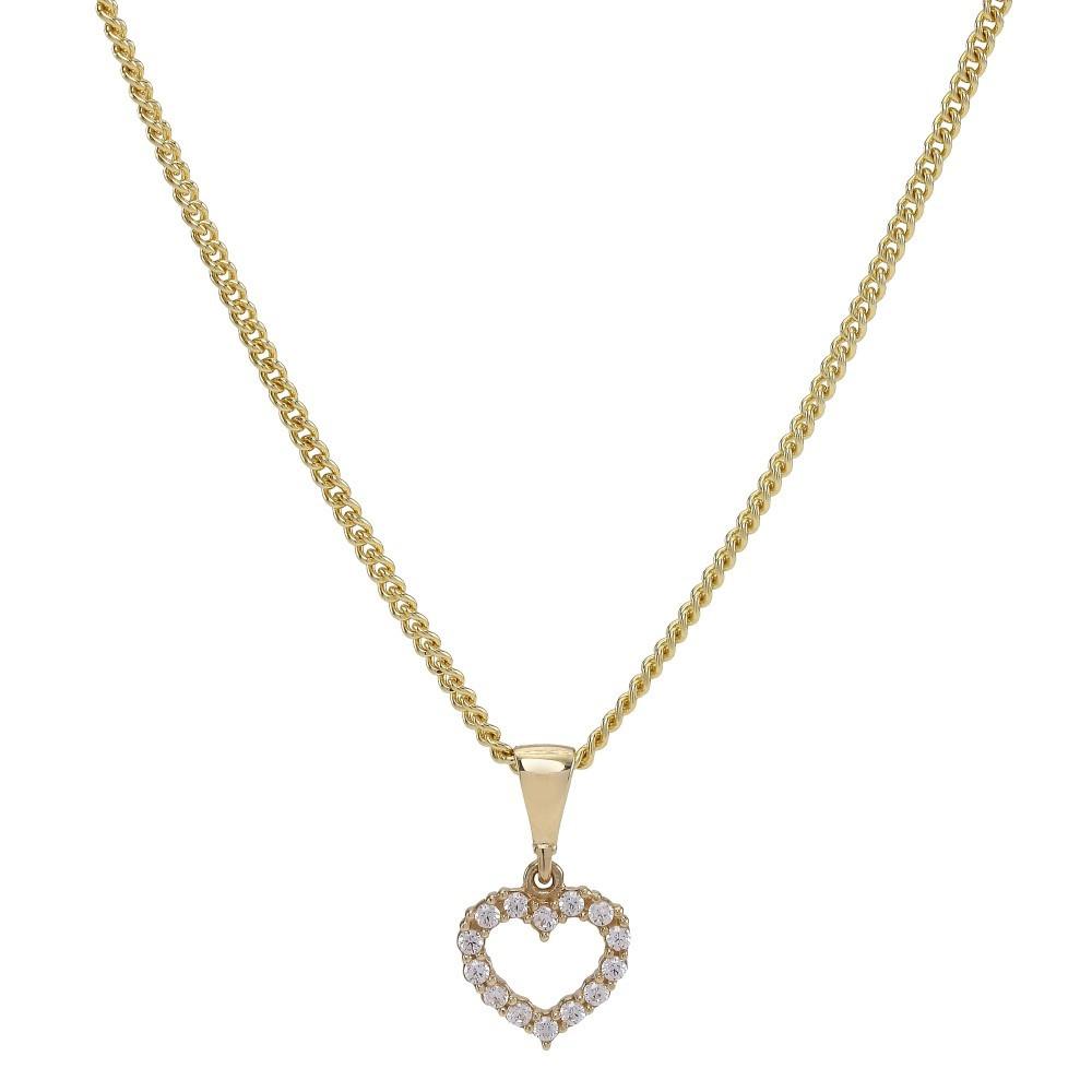 Halskæde med 8kt guld hjerte vedhæng fra Nordahl Andersen