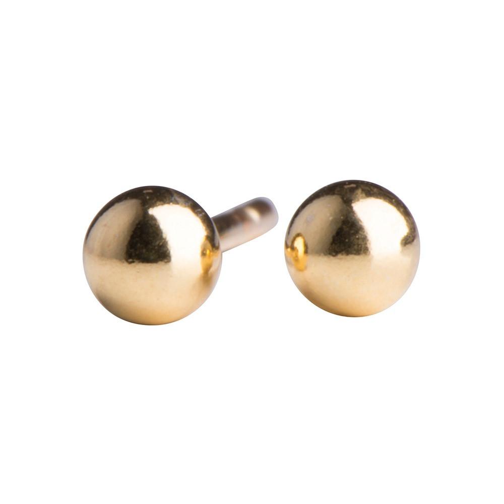 Guld kugleørestikker fra Nordahl Jewellery
