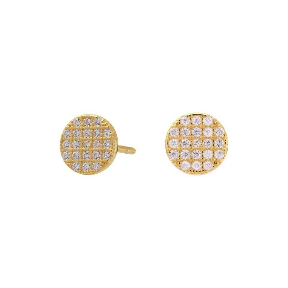 Medium runde øreringe i guld fra Joanli Nor