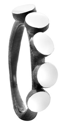 Muffin ring i sølv oxideret fra Von Lotzbeck