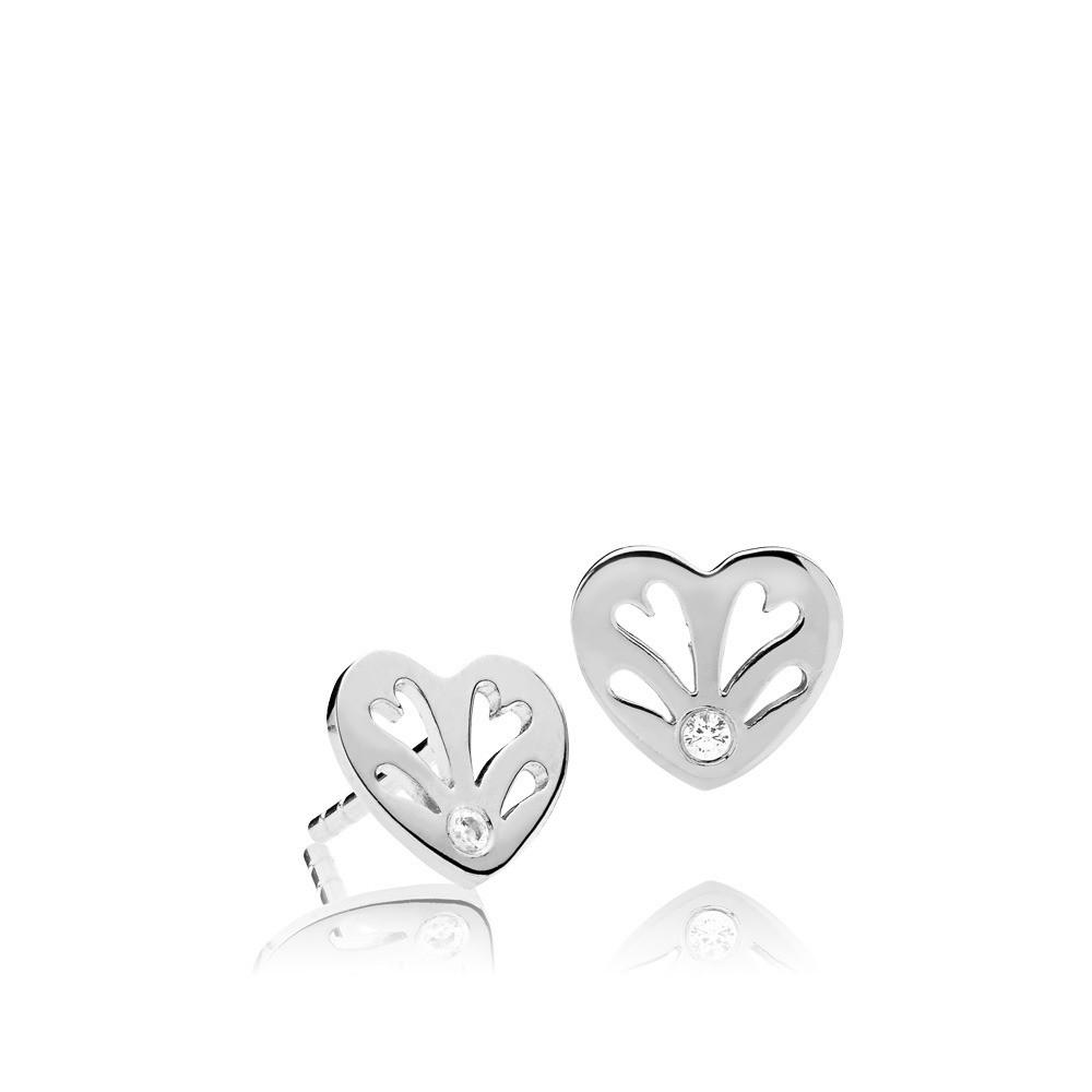 Sweethearts ørestikker i sølv fra Izabel Camille