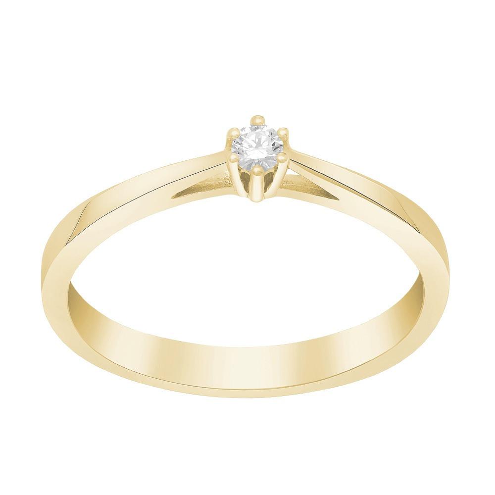 Afrodite 14K. guldring med 0,05CT diamant fra Siersbøl