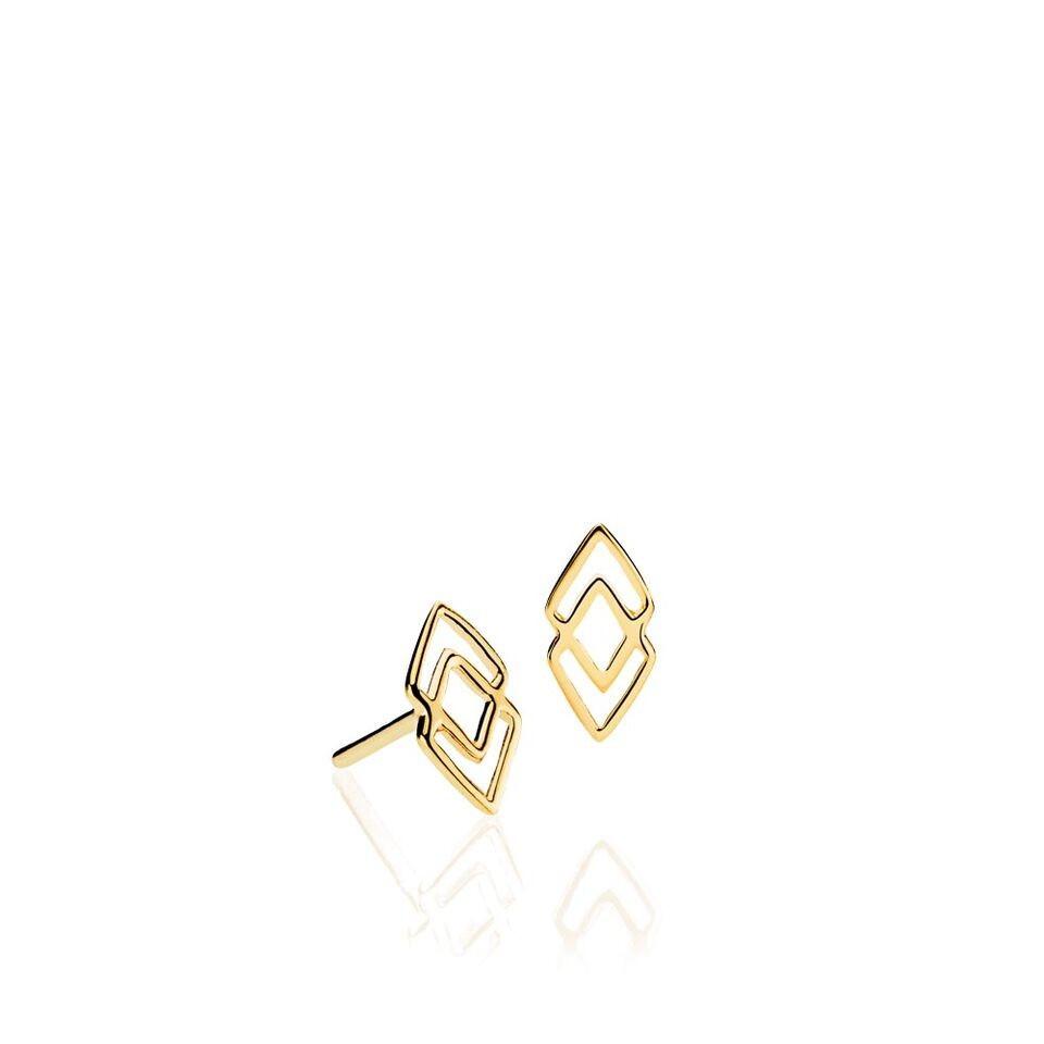 DNA små øreringe i guld fra Izabel Camille.