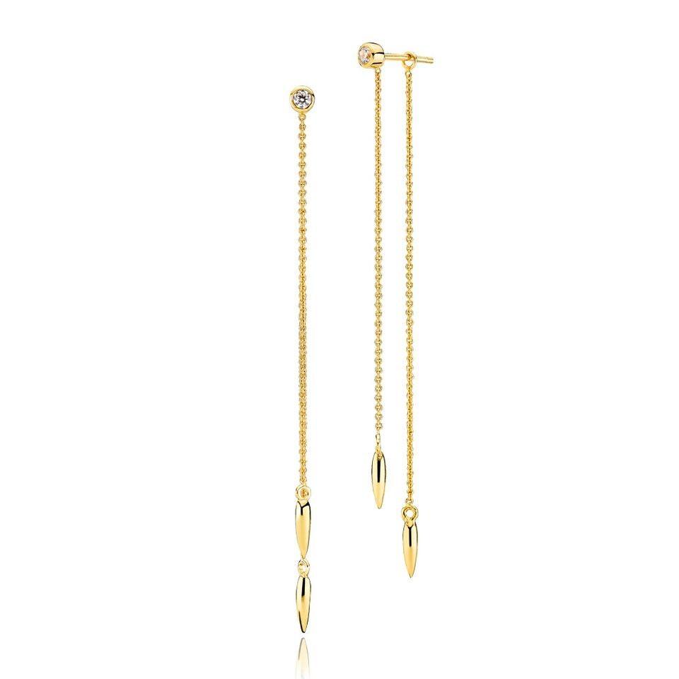 Capture lange øreringe i guld fra Izabel Camille.