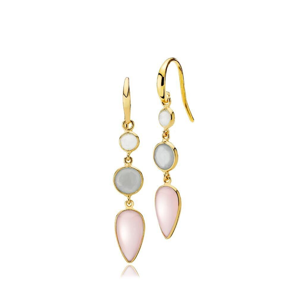 Annabella øreringe i guld med 3 sten fra Izabel Camille.