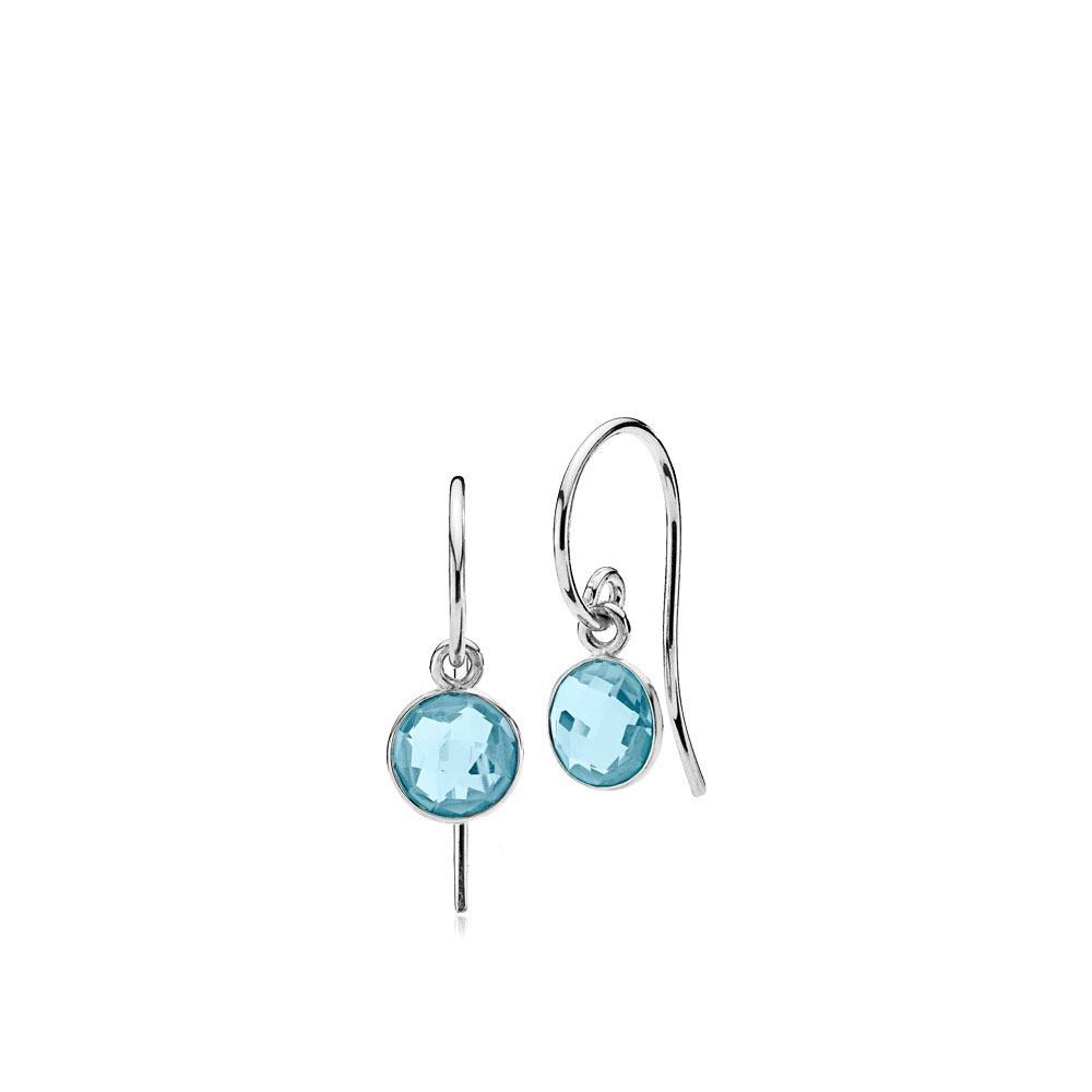 Prima Donna øreringe i sølv med aqua quartz fra Izabel Camille