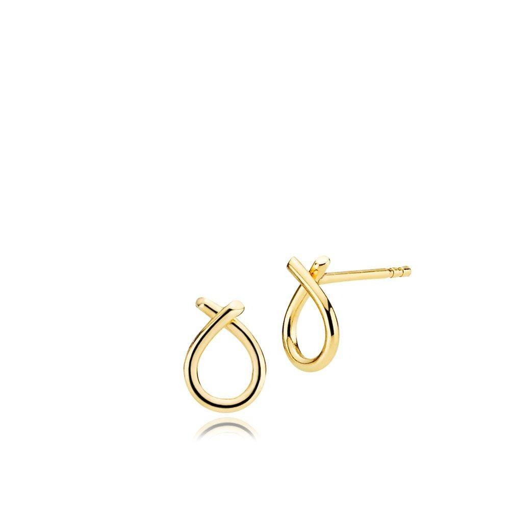 Everyday (små) øreringe i 8 karat guld fra Izabel Camille.