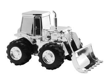 Sølvplet Traktor sparrebøsse fra Nordahl Andersen