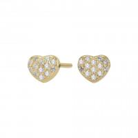 Øreringe i guld formet som et hjerte fra Joanli Nor