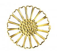 Marguerit broche i sølv forgyldt fra Lund Copenhagen