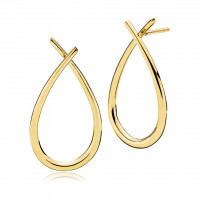 Attitude large øreringe i guld fra Izabel Camille