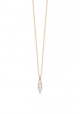Guld halskæde med zirkoner fra Aagaard.