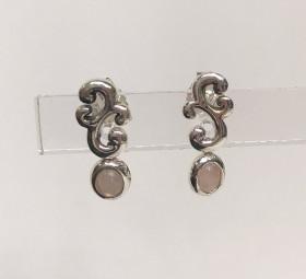 Sølv øreringe med rosa quarts fra Aagaard