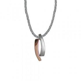 Rosa sølv halskæde fra Aagaard