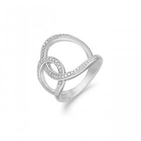 Sølv ring med zirkoner fra Aagaard