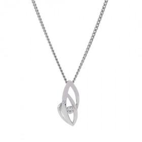 Halskæde i sølv med zirkoner fra Nordahl Andersen