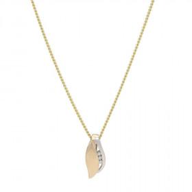 14kt. bicolor halskæde med 0,0415ct TW/si fra Nordahl Andersen