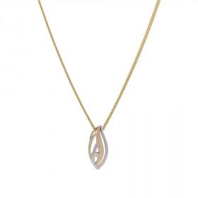 14kt. bicolor halskæde med 0,020ct W/si fra Nordahl Andersen