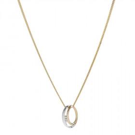 14kt. bicolor halskæde med 0,030ct W/si fra Nordahl Andersen