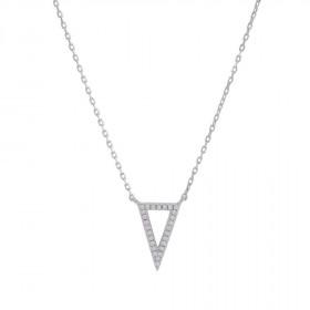 Halskæde i sølv med en trekant som vedhæng fra Joanli Nor