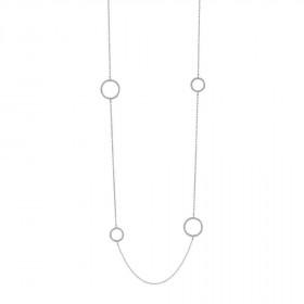 Halskæde i sort sølv med 8 zirkon vedhæng fra Joanli Nor