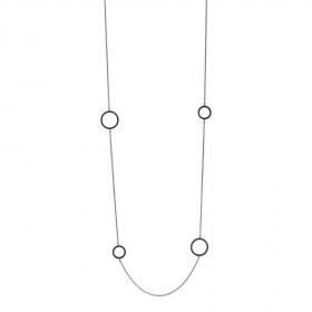 Halskæde i sølv med 8 zirkon vedhæng fra Joanli Nor