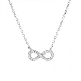 Halskæde i sølv med uendelighedstegn fra Joanli Nor