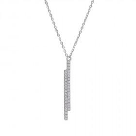 Halskæde i sølv med 2 stave som vedhæng fra Joanli Nor