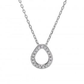 Halskæde i sølv med dråbe vedhæng fra Joanli Nor