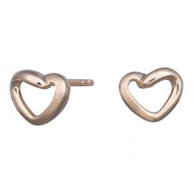 8kt guld hjerte ørestikker fra Nordahl Andersen