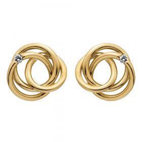 Enkle ørestikker i 14kt. guld med 0,02 W/si brillanter fra Nordahl Andersen