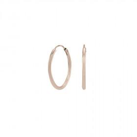 Øreringe i rosa guld 20mm fra Nordahl Andersen