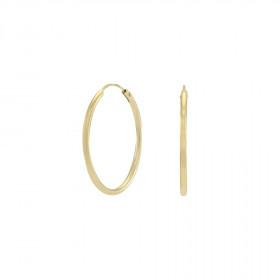 Øreringe i guld 25mm fra Nordahl Andersen