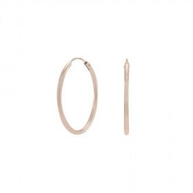 Øreringe i rosa guld 25mm fra Nordahl Andersen