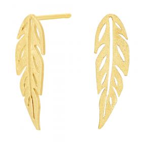 Bladformet øreringe i guld fra Nordahl Jewellery