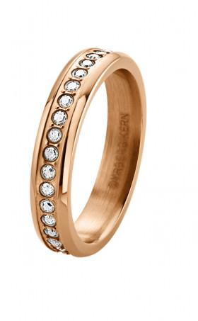Esquire alliancering rosa guld med klare Swarovski sten fra Dyrberg/Kern