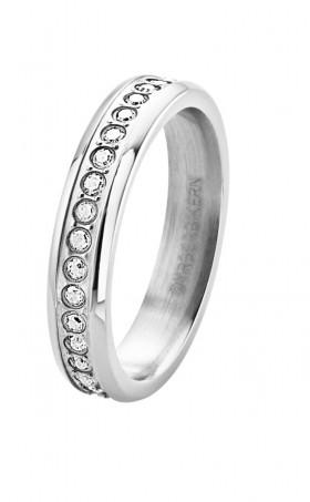 Esquire alliancering sølv med klare Swarovski sten fra Dyrberg/Kern