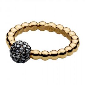 Reiko ring i guld med sort hæmatit sten fra Dyrberg/Kern