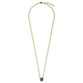 Fiuma halskæde i guld med sorte krystaller fra Dyrberg/Kern