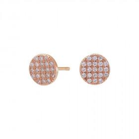 Medium runde øreringe i rosa guld fra Joanli Nor