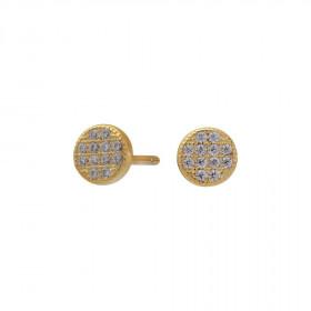 Runde øreringe i guld fra Joanli Nor