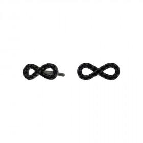 Øreringe i sort sølv med uendelighedstegn fra Joanli Nor