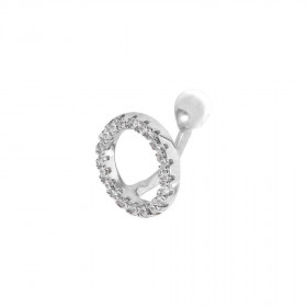 Ear cuff cirkel med zirkoner fra Joanli Nor