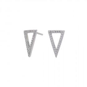 Medium øreringe i sølv formet som en trekant fra Joanli Nor