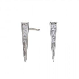 Øreringe i sølv formet som en spids trekant fra Joanli Nor