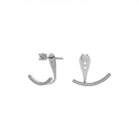 Speciel ørering i sølv med zirkoner fra Joanli Nor