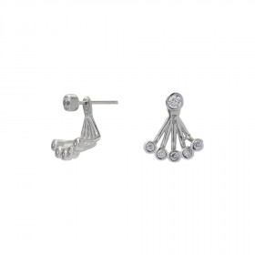 Øreringe i sølv med små zirkoner fra Joanli Nor