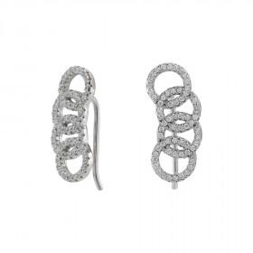 Øreringe i sølv med 4 cirkler fra Joanli Nor