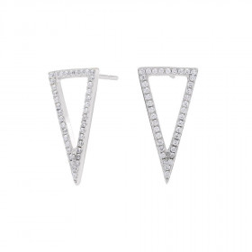 Large øreringe i sølv formet som en trekant fra Joanli Nor